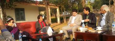 Imran Khan with Journalists